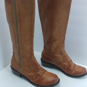 MIA Brown Leather Knee High Riding Boots Women